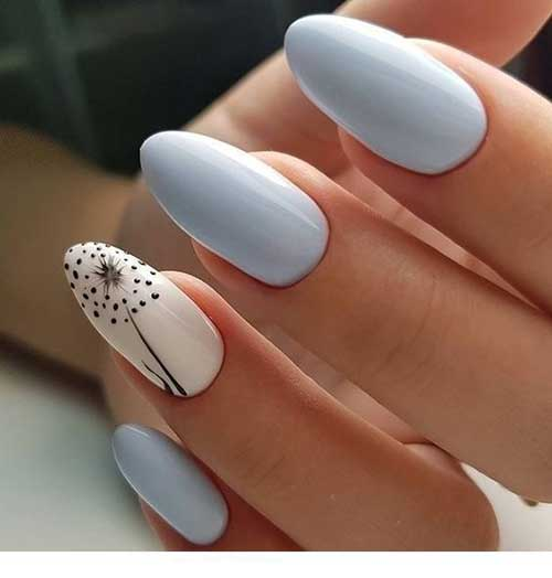 Blue Spring Nail Art Designs-6