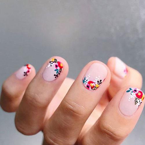 Floral Nail Designs-7