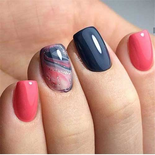 Marble Style Spring Nail Art Designs-7