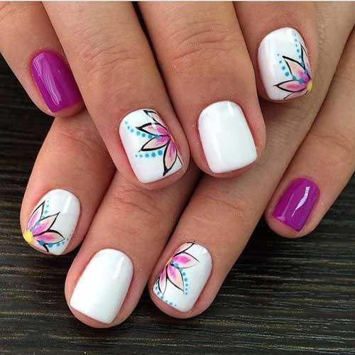 Floral Spring Nail Art Designs-8