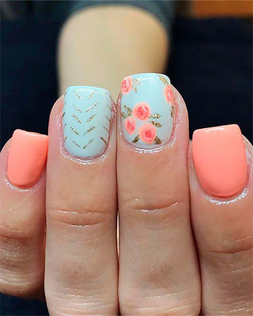 Floral Nail Designs-9