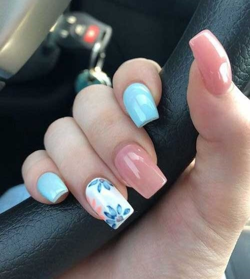Square Spring Nail Art Designs-9