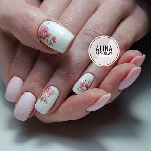 Cute Floral Nail Designs