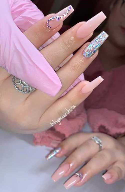 Nails with Rhinestones-16