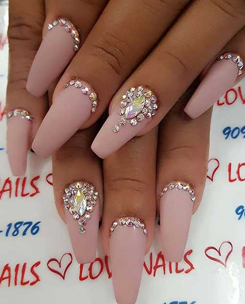 Nails with Rhinestones-6