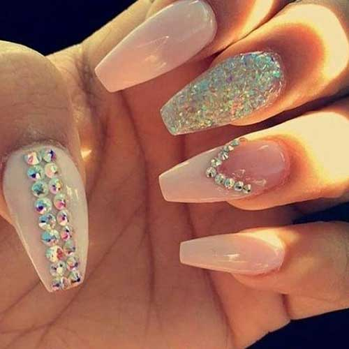Nails with Rhinestones-8