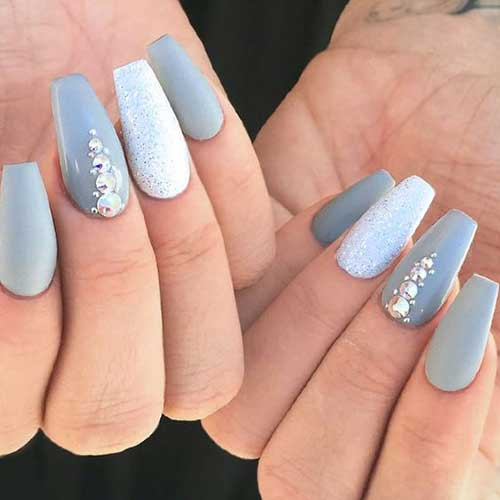 Nails with Rhinestones-9