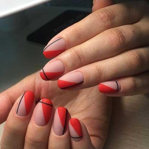 Simple Geometric Nail Art