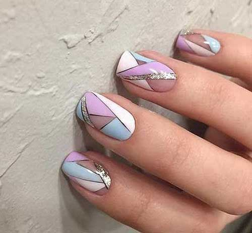 Diy Geometric Nail Art Design: 20 Stylish Geometric Nail Art Pics