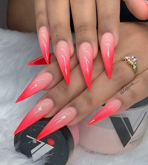 Summer Stiletto Nails