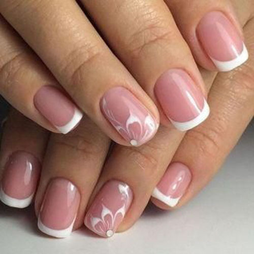 French Manicure Pictures With Designs