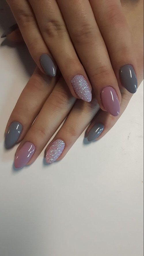Almond Acrylic Nails Short
