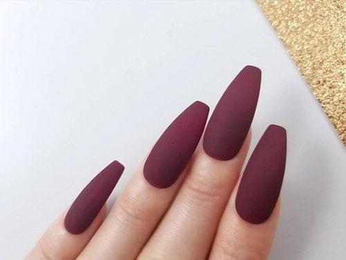 Coffin Medium Nails