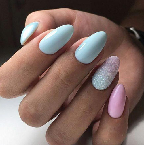 Short Acrylic Nails Almond