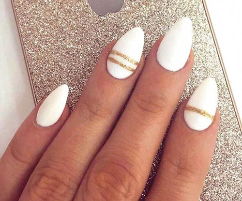 Acrylic Short Almond Nails