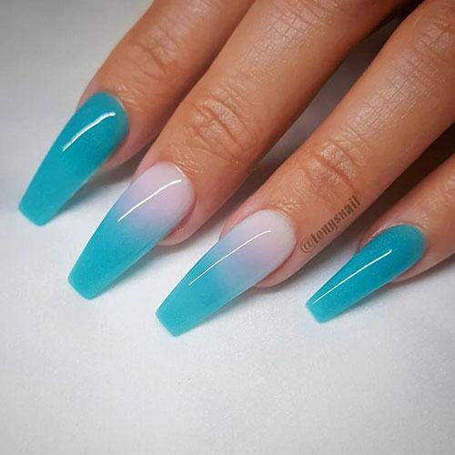 Acrylic Nails Teal