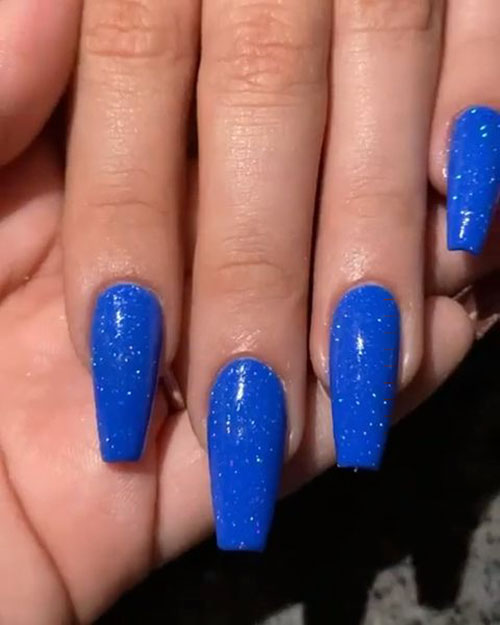 Cobalt Blue Acrylic Nails