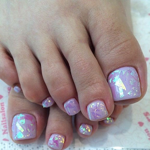 Pineapple Toe Nail Designs