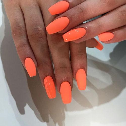Acrylic Nails Orange