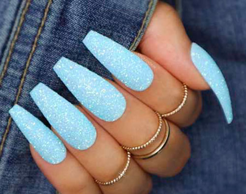 Icy Blue Acrylic Nails