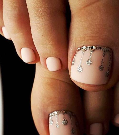 Snowman Toe Nail Designs