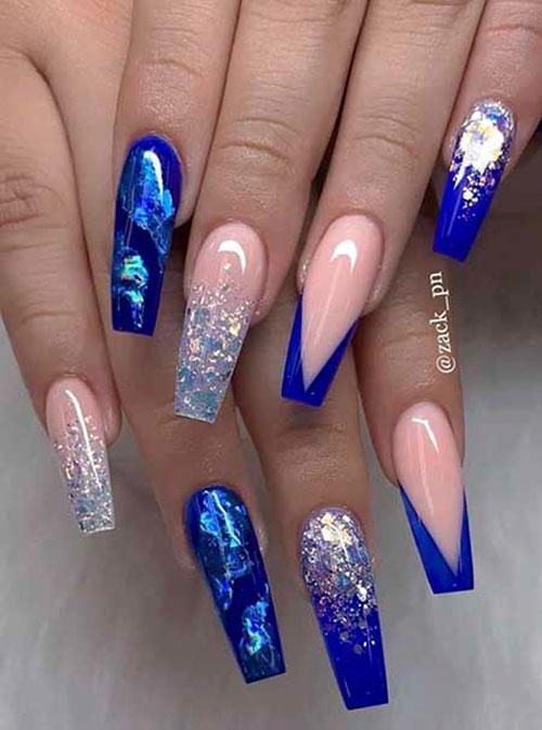 Ice Blue Acrylic Nails