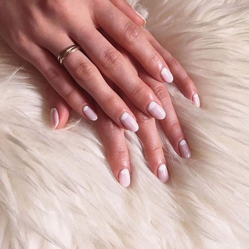 Thick French Nails
