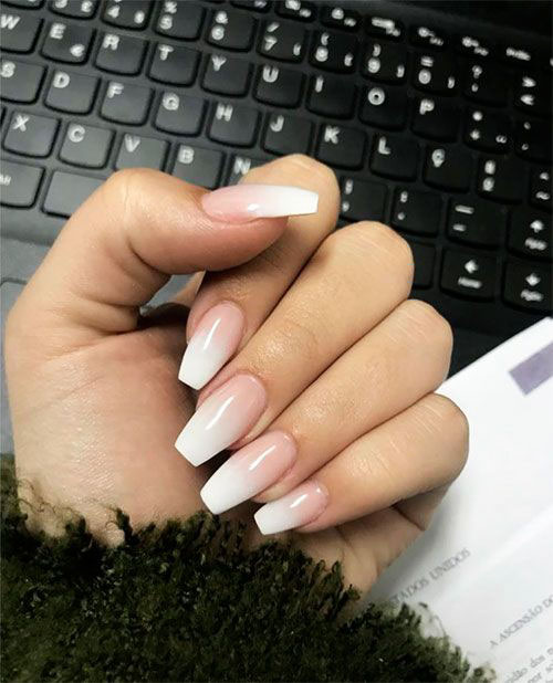 Reverse French Nails