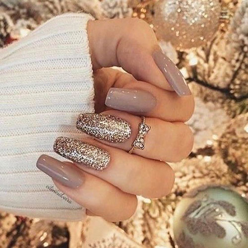 Acrylic Gold Nails