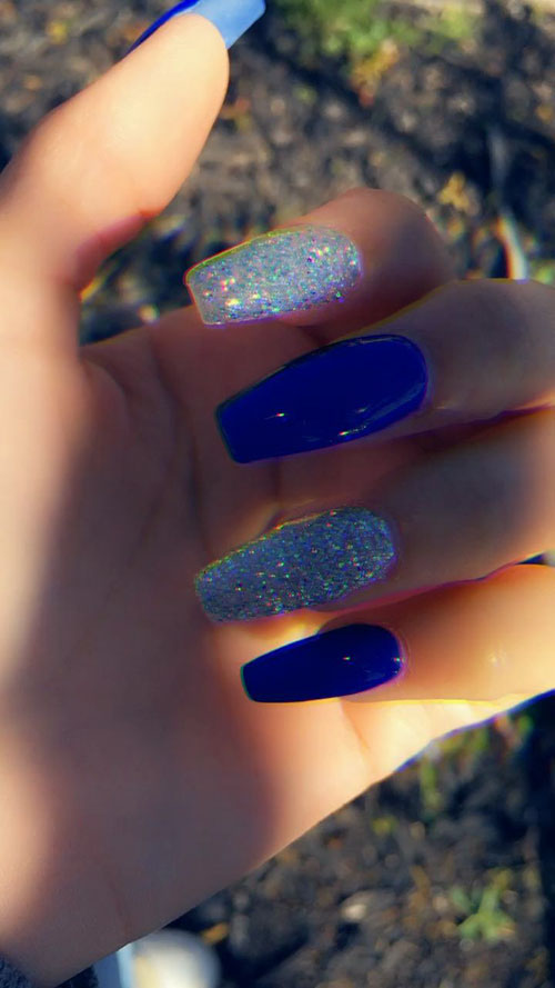 Tiffany Blue Acrylic Nails