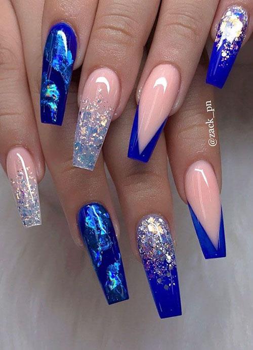 Aqua Blue Acrylic Nails