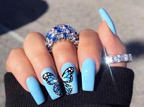 Top 25 Cool Blue Acrylic Nails Nail Art Designs 2020
