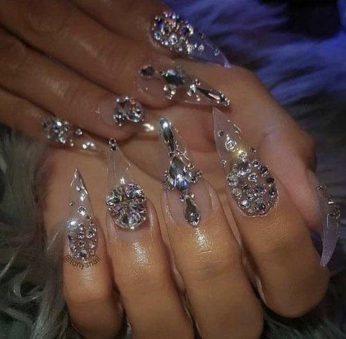 Pixie Diamond Nails