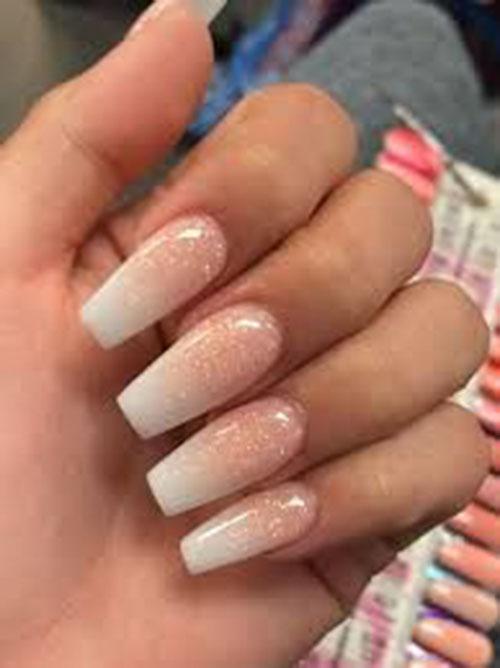Reverse French Acrylic Nails