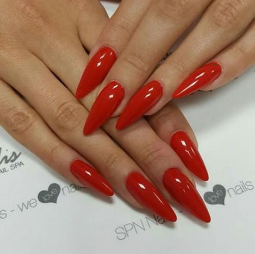 Pics Of Red Nails