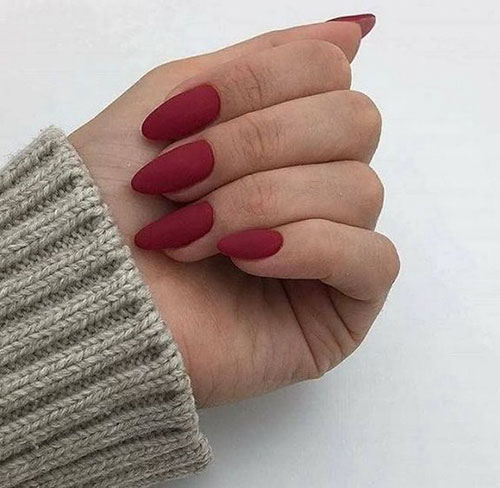 Red Permission Nails