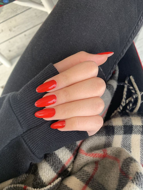 Red Persimmon Nails