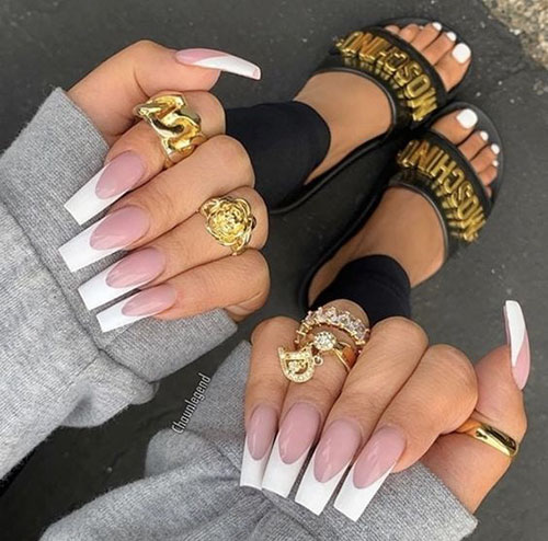 Faded French Acrylic Nails