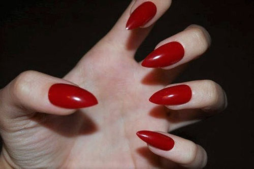 Pictures Of Red Nails