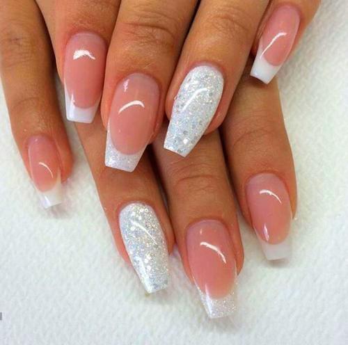 French Acrylic Nails Rounded