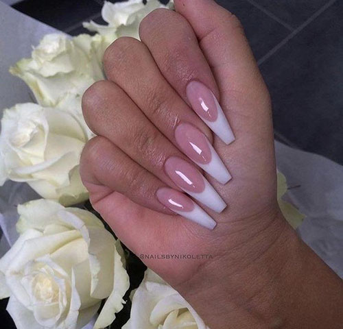Acrylic Nails Faded French