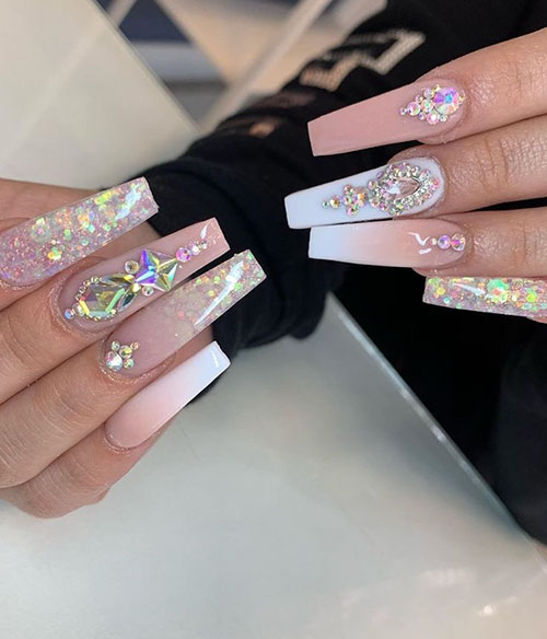 Long Curved Coffin Nails
